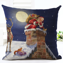 Santa Claus Gift Series Cushion Christmas Ornament Throw Pillow Snowman Christmas Tree Cushion Chimney Decorative Pillows HH042