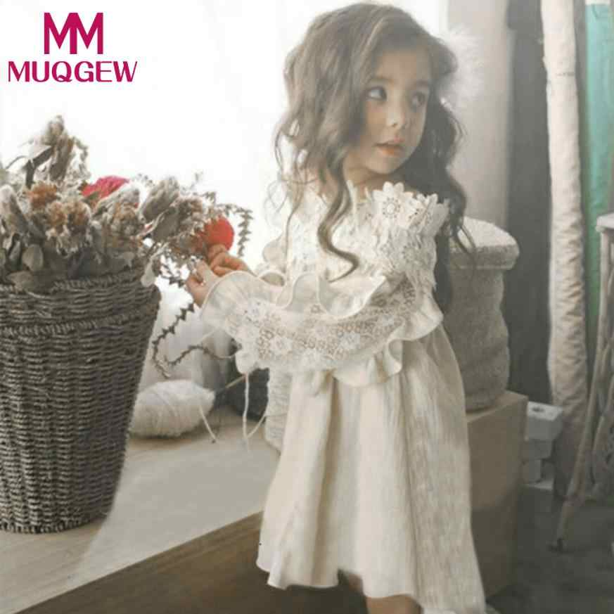 MUQGEW 2018 Baby Girl Lace Dress Outfit Clothes for Toddler Kids Baby Girl  Off Shoulder Princess c8a81e153b2c