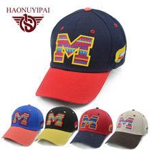2016 Brand new Baseball Caps Letter M Cap Bone orras Adjustable Snapback Hat For Men Women Good Quality Special promotional Hats