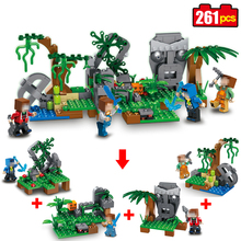 Buy Qunlon 4 1 mine World Series village historical Model Building Blocks Compatible Minecrafted brick toys children 261pcs for $18.56 in AliExpress store
