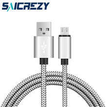 2a fast charging 1m 2m nylon micro USB 2.0 Charger Cable for samsung galaxy j5 j7 s4 s6 note 3 4, moto x lg g3 g4 plus data sync(China)