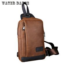 New Men Purse Multi Functional Chest Bag Leisure Satchel Crazy Horse Leather Ipad Bag Tote Women Beach Bag Bolsa
