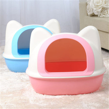 Pet Bedpans Cat Litter Box Indoor Pet Toilet Gatos Puppy Toilet Training Semi - Closed Type Cats Dogs Litter Cat Box DDX270(China)
