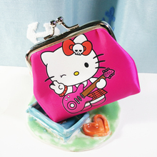 Hello Kitty Coin Purse Student Portable Women's Wallet Cute Cartoon Bag Ladies Children Purses Christmas Gift(China)