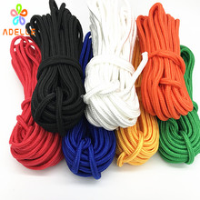 6colors 5/6mmx15m braided nylon rope Polypropylene rope PP hang tag climbing boat yacht sailing line clothes line free shipping(China)
