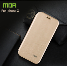 For iPhone X Case Mofi Flip PU Leather Stand Case For iPhone X Book Style Phone Cover(China)