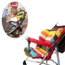 Thick Colorful Baby Infant Stroller Seat Pram Cushion Chair BB Car Umbrella Cart Seat Color Dot Cotton Mat Stroller Mat For Kids(China)