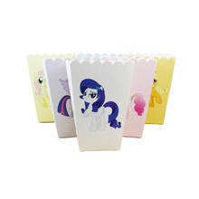 12pcs/lot Colorful Design My Little Pony Popcorn Box for Children Birthday Party Baby Shower Party Deco Supplies(China)