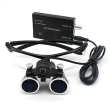 Binocular Dental Magnifier Loupe-Lamp Headlight Surgery Medical-Operation