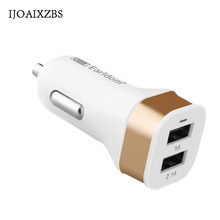 5V2A Quick Charge Adapter 2.0 Car Ventilator Charger Fast Dual USB Port Mobile Phone Car Socket For iPhone iPad(China)