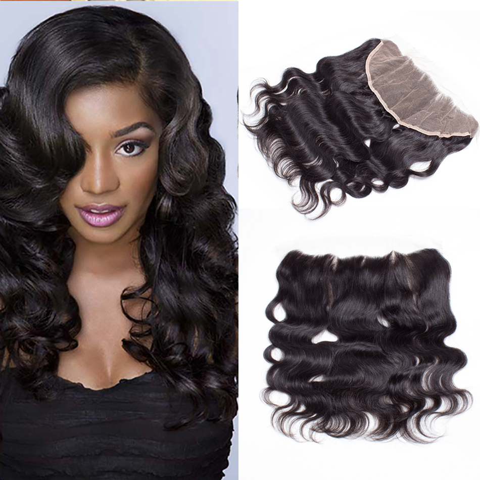 Brazilian Frontal Body Wave Brazilian Body Wave Frontal Closure With Baby Hair 13x4 Lace Frontal Pre Plucked Queen King Hair<br><br>Aliexpress