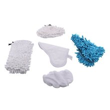 Washable Replacement Steam Mop Pads for Chenille X5 H20 (White Blue)