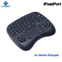 2017 New iPazzPort French Germany Wireless 3 color Backlight Mini Keyboard Mouse for Android TV Box/Raspberry Pi 3/smart TV(China)