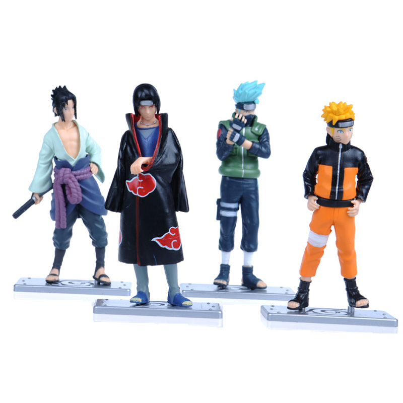 4pcs/set Naruto Good PVC Anime 17th Generation Naruto Model Toy Action Figure For Decoration Collection Gift Discount(China (Mainland))