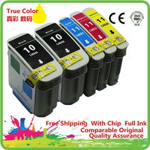 1 Set + 1 Bk Ink Cartridges For HP 10 11 XL 10XL HP10XL HP10 C4844A C4836A OfficeJet Pro K850 k850dn 9120 9130 9100 9110 Printer