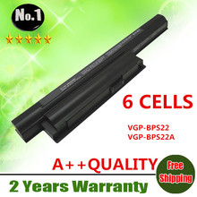 Wholesale New 6cells laptop battery FOR SONY VAIO VPC-E Series  VGP-BPS22  VGP-BPS22A