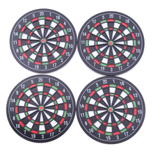 4pcs/set Kitchen Utensils Dart Board Styled Plastic & Rubber Coaster Mini Dart Board Cup Coasters sottobicchieri kitchen table