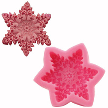 1 Pc 3D Big Snowflake Silicone Mold Baking Tools Chocolate Jelly Pudding Cake Fondant Mould Pastry Decorating Tools