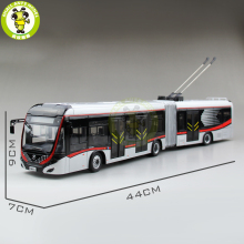 1/42 YuTong Bus ZK5180A City Bus Trolleybus Articulated bus Diecast Bus Model Gift Collection Hobby(China)