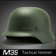 Steel Helmet Safety-Equipment German Army Tactical Airsoft Hunting Black Green M35 Special-Force
