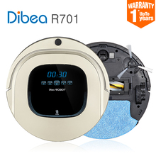 2016 Smart Robot Vacuum Cleaner for Home Sweeping Dust Sterilize Planned Path charging Clean mop Filter Roller brush Dibea R701(China)
