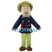 2015 Post Man Mascot Costume For Party/Blue Firefighters Mascot Costume/Man Mascot Costume(China)