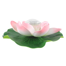 Solar Lotus Pond Water Bleaching Light Novelty Night Light Glow Party Supplies Children Gifts Pink Color