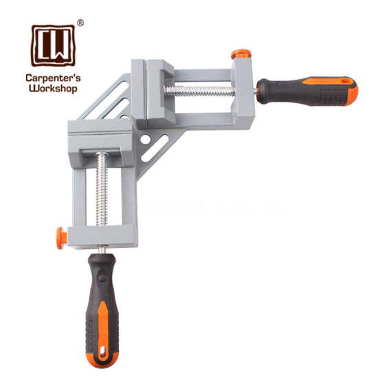 Double Handle Aluminum Alloy 90 Degrees Angular Splint Right Angle Clamp Woodworking Clips Carpenter Pliers Frame Clamps<br>