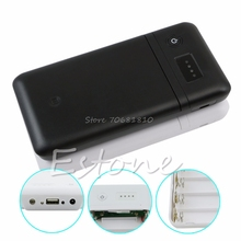USB 6 x 18650 Battery Charger Box Adjust 5V 2A 9V 12V Mobile Power Bank Z17 Drop ship(China)