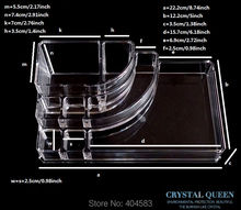 Professional Cheap High Quality Clear Crystal Acrylic  Jewelry Makeup Cosmetic Storage Display Box Rack Holder Organizer