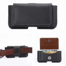 Black Pouch Leather Case Belt Clip Wallet for iPhone 5S 5C 5 4 4S Lychee Texture Magnetic Flip Waistband Holster with Card Slot