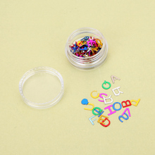 New 12 Color Nail Art Supplies Nail Stickers Letters Small Multicolore Sequins Flash Chip Letter Patch Rhinestones Decoration