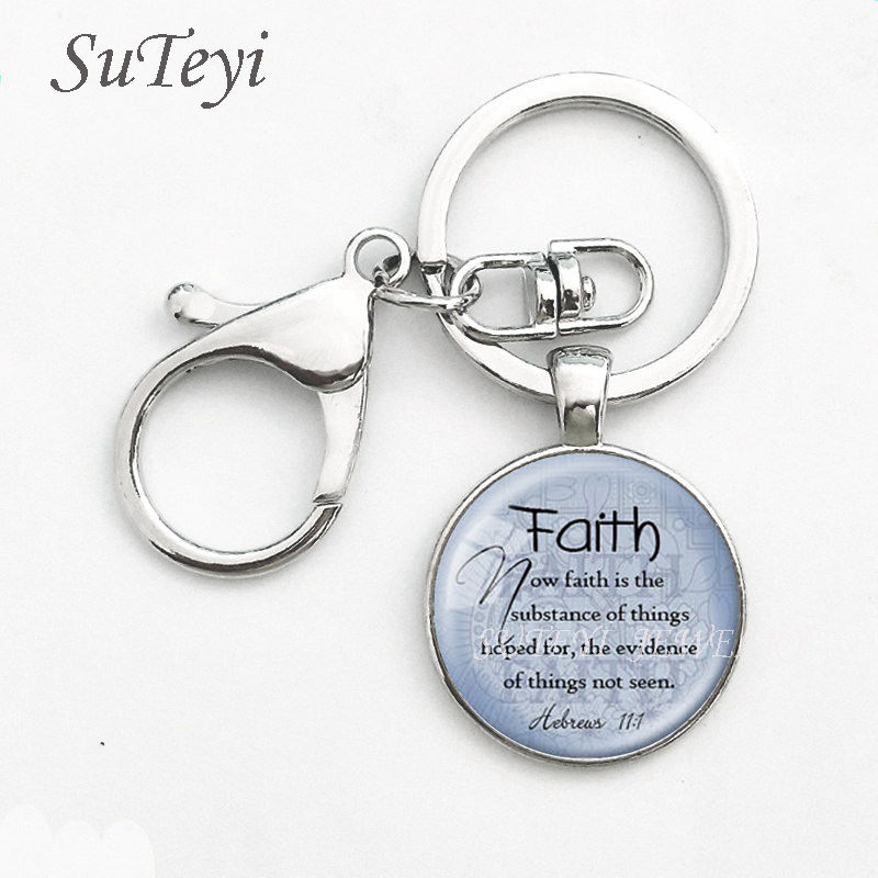 Scripture Verse Keychain Cross Keyring Bible Keyring Romans 8:38 keychain You Are Loved Forever Scripture keychain Bible Verse Keychain
