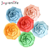 JOY-ENLIFE 2pcs 20cm DIY Paper Flowers Backdrop Decorative Artificial Flowers Wedding Favors Birthday Party Home Decoration(China)