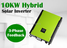 10kw 3 phase Hybrid solar inverter on grid off grid solar inverter with battery bank up max solar power 14850w