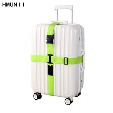 Adjustable Cross Luggage Straps Travel Trolley Suitcase Personalized Safe Packing Belt Parts Items Accessories Thicker Version
