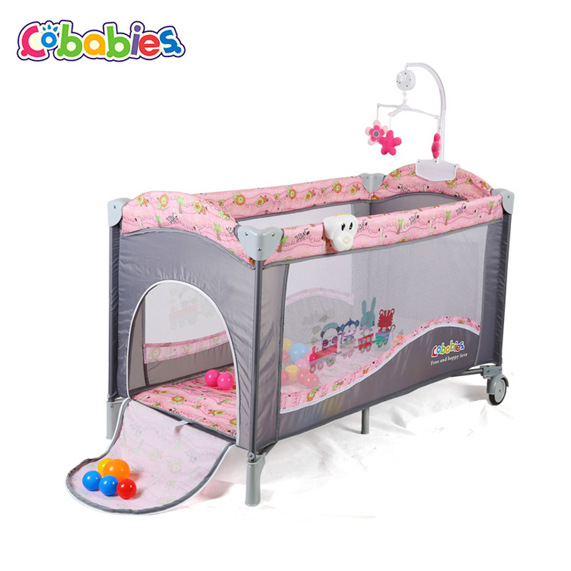 Portable Baby Crib Multi Functional Folding With Diapers Changing Table Travel Child Game Beds For Rocking Function Of Home Hang In Cribs From Mother