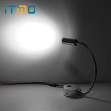 ITimo Mirror Corridor Light Modern Flexible Arm Light Wall Lamps Hose Home Decoration Bedside Reading Lamp Silver(China)