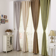 Pure Linen Cloth Curtains for Dining Room Bedroom Living Room Color Simple European Style Atmosphere Shading