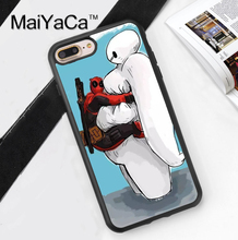 Deadpool Baymax Big Hero Superhero Print Soft TPU Skin Cell Phone Cases For iPhone 6 6S Plus 7 7 Plus 5 5S 5C SE 4 4S Back Cover
