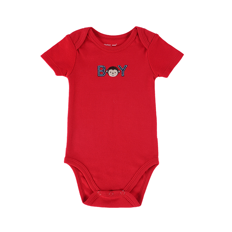 2016 Newly 25 Styles Baby Clothing 0-12 M Romper Mother Nest Red Color Monkey Embroidered Next Boy&Girl Bebes Newborn Clothes (1)