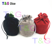 "Dice bag double-deck Velvet bag 6*5.5"" Velvet Drawstring bags & Pouches for gift game for Board Game(China)"