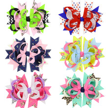 12PCS/LOT Cartoon Monkey Sheep Anchor Handmade Creative Design Hair Bow Best Party Dress Up Hairpin for Kids Girl Clip Headwear(China)