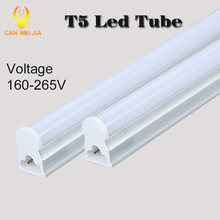 Canmeijia PVC Plastic LED Tube T5 Lights Bulb 220V 30cm 5W 60cm 1ft 2ft 9W LEDs Fluorescent Lamp led Wall Lamps Bulbs Light