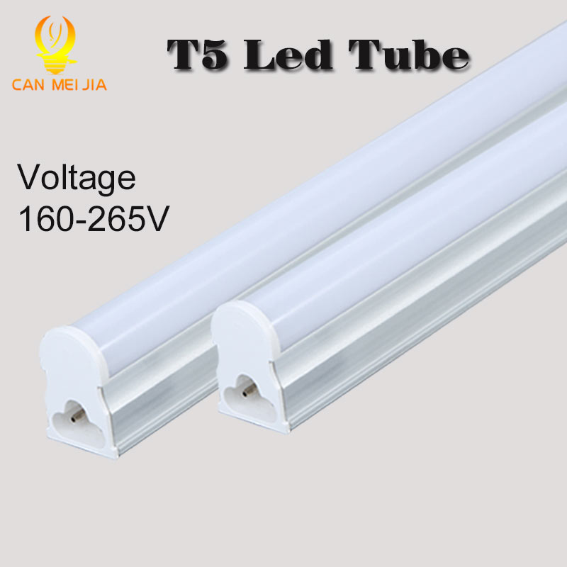 Canmeijia PVC Plastic LED Tube T5 Lights Bulb 220V 30cm 5W 60cm 1ft 2ft 9W LEDs Fluorescent Lamp led Wall Lamps Bulbs Light(China (Mainland))