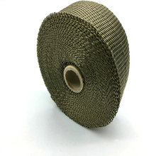 5m Titanium Thermal Exhaust Header Pipe Heat Wrap With Steel Ties Kit