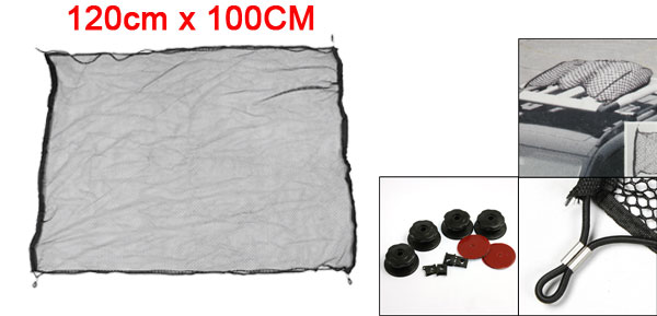 X Autohaux Truck Car Roof Rack Mesh Baggage Cargo Luggage Net Rope Bungee 120Cm X 100Cm