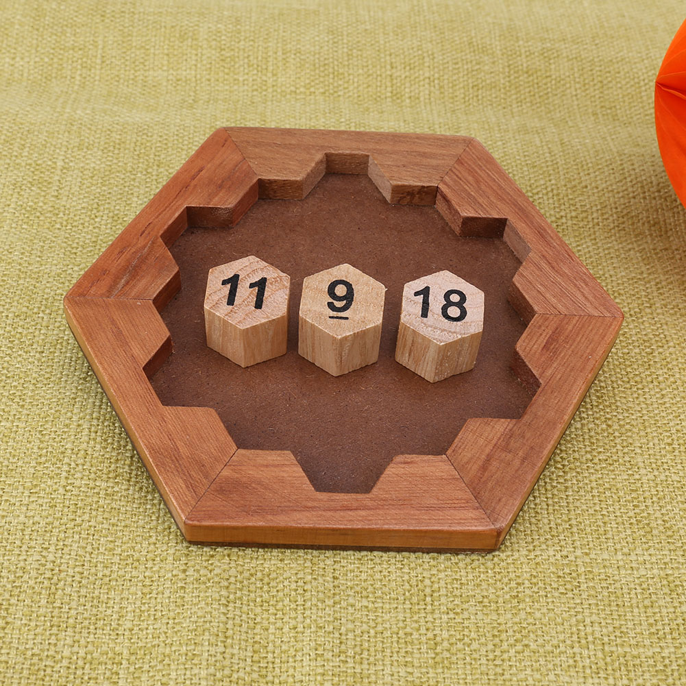Children Wooden Number Board Kid Brain Teaser Math Game