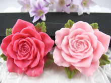 20pcs/lot  DIY resin cabochons accessories  flat back resin flowers mix colors