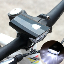 Rechargeable USB LED Bicycle Bike Flashlight Lamp MTB Front Bicycle Cycling Light Headlight Headlamp Bike Bycicle Accessories(China)